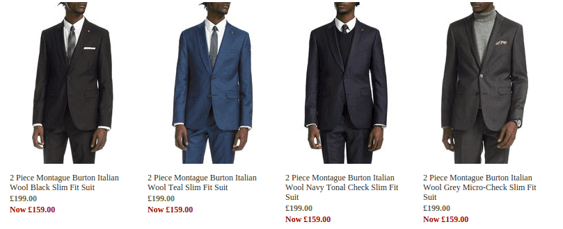 burton menswear wool suits