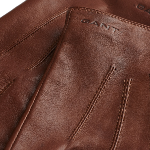 GANT brown leather gloves 2