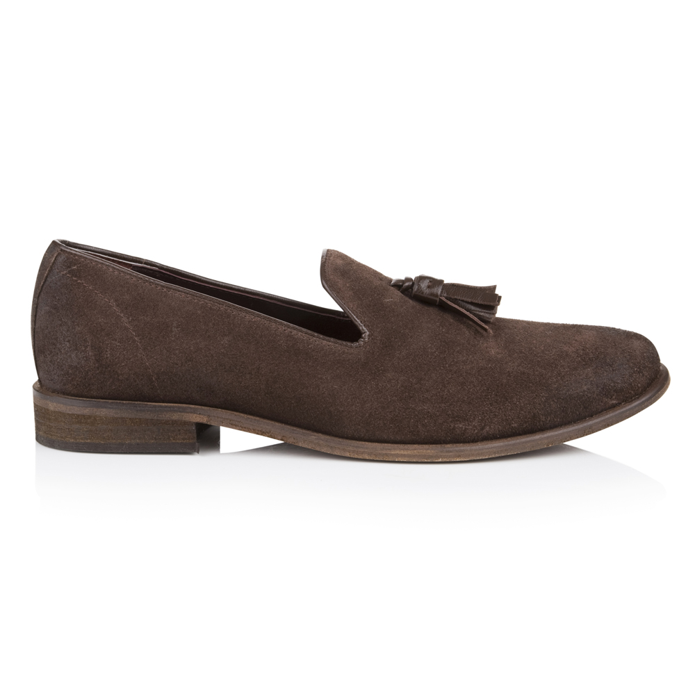 Hamilton Brown Suede Loafers Agnes & Norman