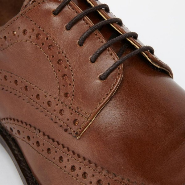 ASOS Brogue Shoes in Leather 4