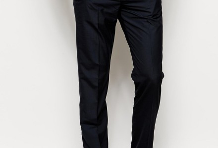 ASOS Slim Fit Suit In Navy Pindot trousers