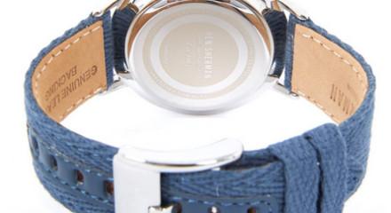 Blue Canvas Herringbone Watch 3