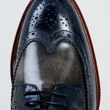 DELTA TWO TONE BROGUE SHOES 4
