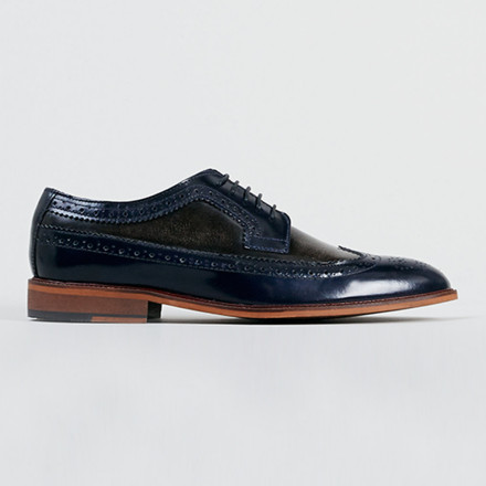 DELTA TWO TONE BROGUE SHOES
