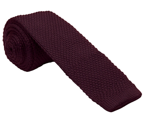 Kin by John Lewis Mercer Knitted Tie, Claret