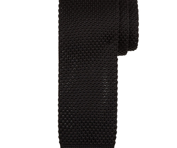 Kin by John Lewis Mercer Knitted Tie, black