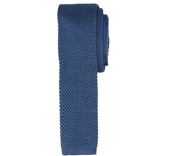 Kin by John Lewis Mercer Knitted Tie, marine