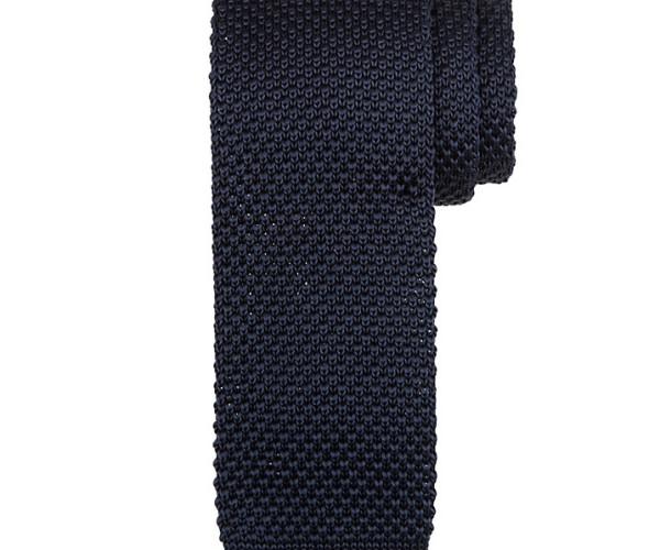 Kin by John Lewis Mercer Knitted Tie, navy