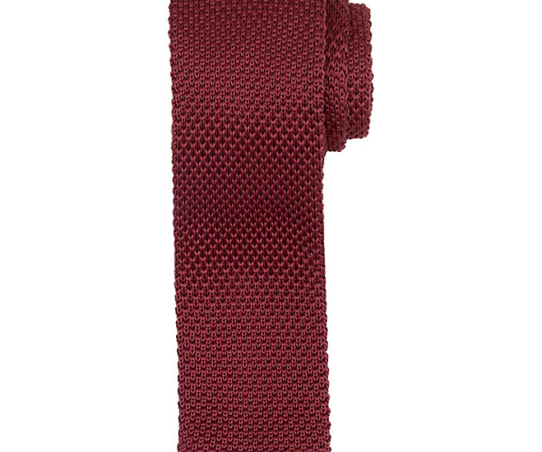 Kin by John Lewis Mercer Knitted Tie, raspberry