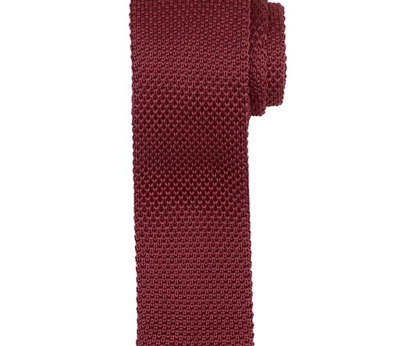 Kin by John Lewis Mercer Knitted Tie, raspberry