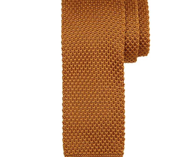 Kin by John Lewis Mercer Knitted Tie, rust