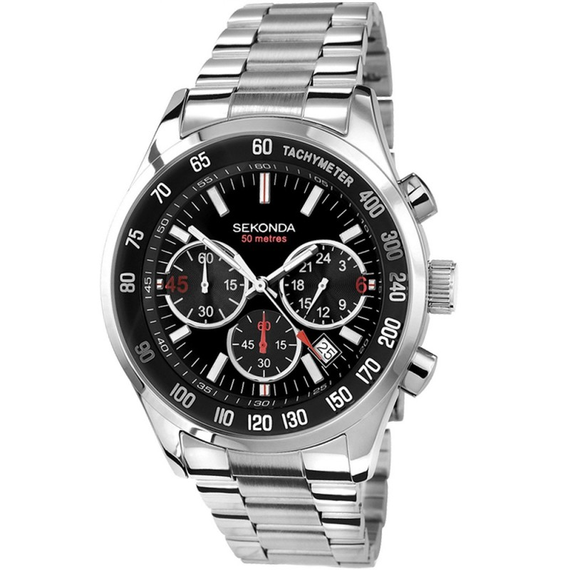 Sekonda Mens Chronograph Bracelet Watch 3419