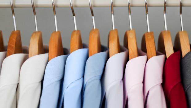 shirts on a hanger