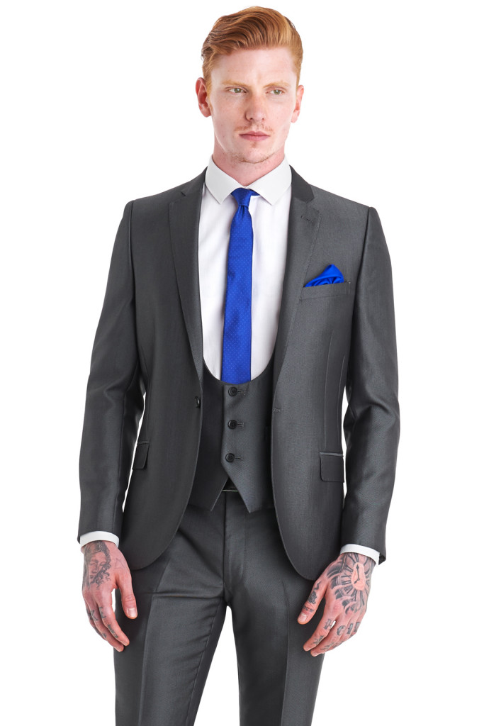 moss bros silver tonic suit