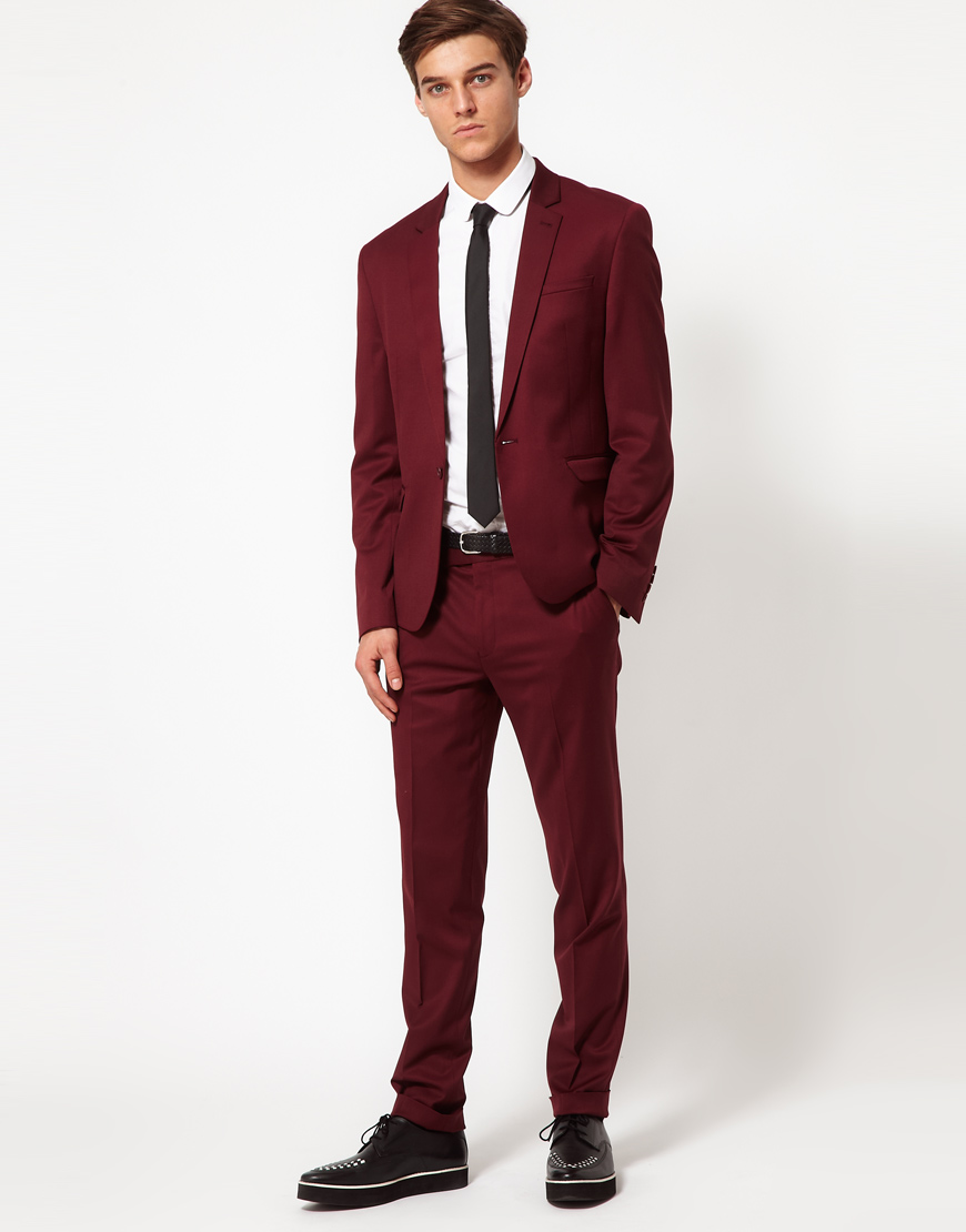 next burgundy suit