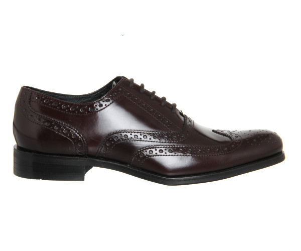 office burgundy brogues 2