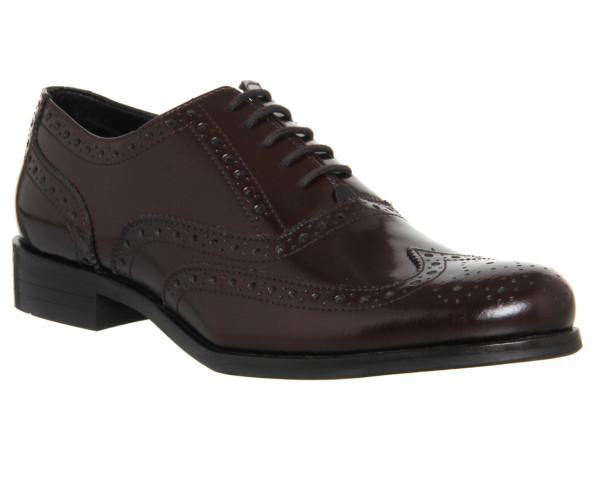 office burgundy brogues