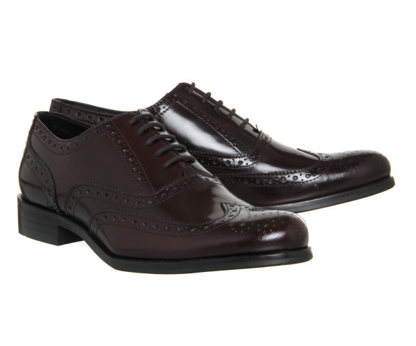 office burgundy brogues 7