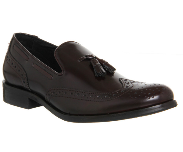 office burgundy loafers