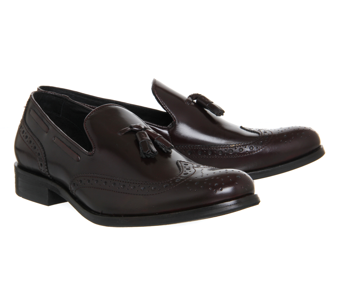 office burgundy loafers 7