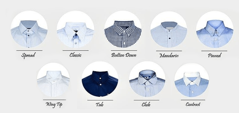 different types of shirts