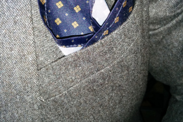 Next Wool Suit Pocket Square