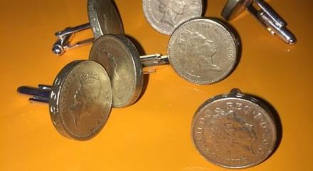 £1 coins cufflinks