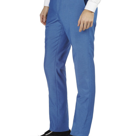 BRIGHT BLUE TONIC SLIM FIT SUIT TROUSERS