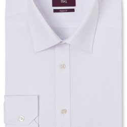 MOSS ESQ. REGULAR FIT WHITE SINGLE CUFF TWILL SHIRT