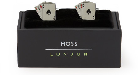 MOSS LONDON SILVER PLAYING CARDS