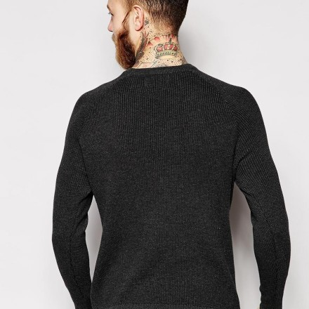 Only & Sons Knitted Waffle Jumper With Raglan Sleeves 2