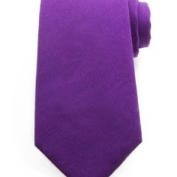 Purple Cotton Tie