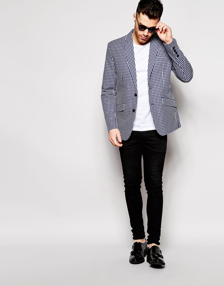 Antony Morato Check Suit Jacket in Slim Fit 4