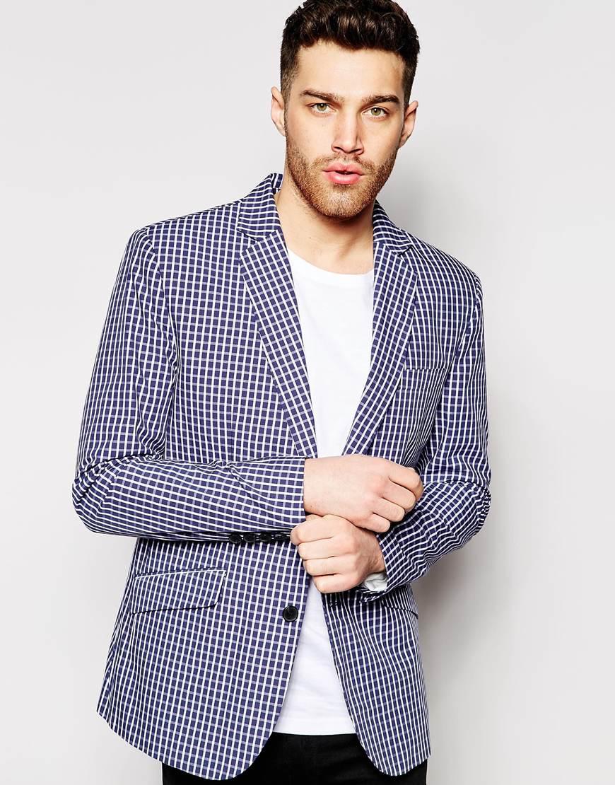 Antony Morato Check Suit Jacket in Slim Fit
