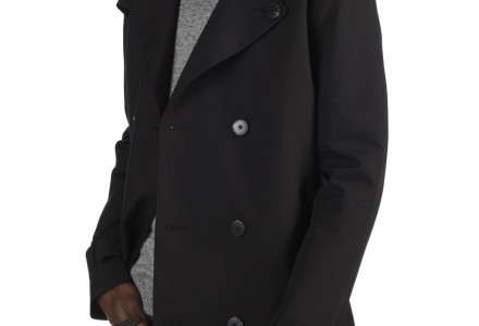 Black Shower Resistant Belted Trench Coat