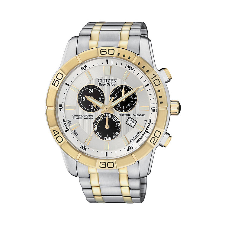 Citizen-Eco-Drive-Mens-Two-Tone-Bracelet-Watch