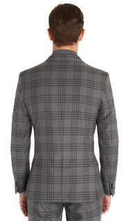 MOSS LONDON SLIM FIT GREY CHECK SUIT 3