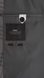 MOSS LONDON SLIM FIT GREY CHECK SUIT 5