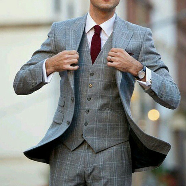 grey checked suit abovetheankles 3