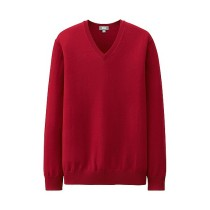MEN Extra Fine Merino V-Neck Sweater 5