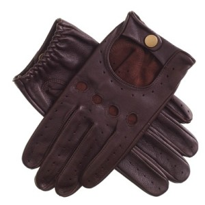 Men's Cognac Leather Driving Gloves 2