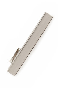 Moss 1851 Silver Brushed Tie Bar