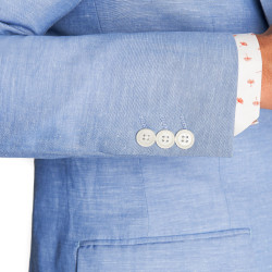 Moss London Slim Fit Sky Blue Linen Jacket 5