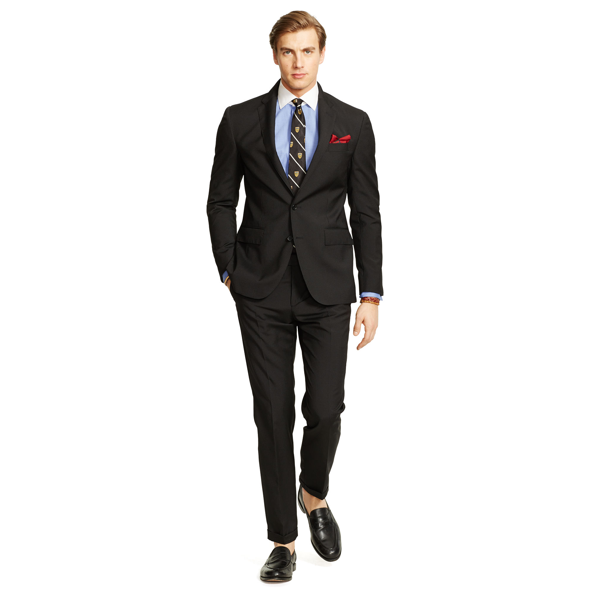 Ralph Lauren Polo Beaded-Stripe Wool Suit 1
