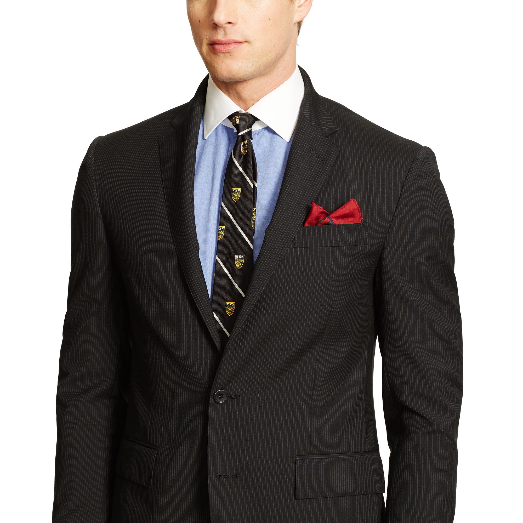 Ralph Lauren Polo Beaded-Stripe Wool Suit 3