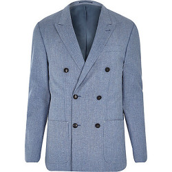 River Island Blue Double Breasted Slim Blazer – £110.00