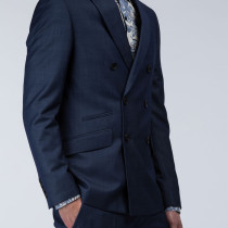 Slim Fit Double Breasted Jacket In Blended Viscose