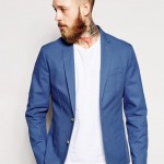 ASOS Slim Fit Blazer In Washed Cotton