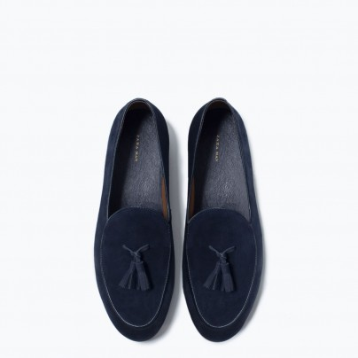 Blue Zara Loafers