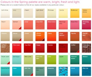 spring colour pallete